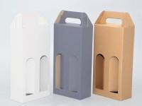 papírová krabice na dvě láhve vína skládaná - různé barvy
