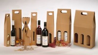papírové krabice na víno z dvouvrstvé vlnité lepenky