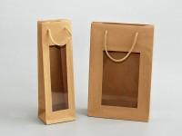 přírodní sulfátové tašky s průhledným oknem