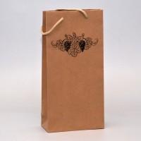 papírová taška na dvě láhve s potiskem