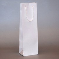 papírová taška na víno bílá