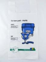 igelitová taška Třiďte odpad - papír