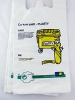 igelitová taška Třiďte odpad - plasty