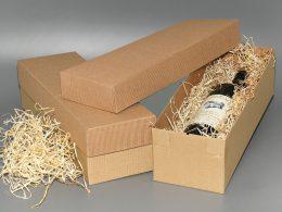 hotová dárková krabice na víno s víkem