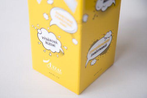dárková papírová krabice s potiskem