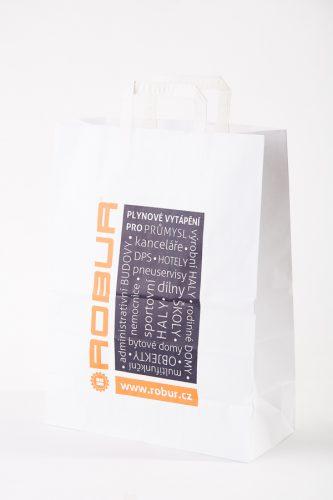 hotová skladová papírová taška s potiskem