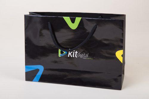 luxusní papírová taška s potiskem