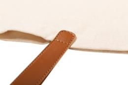 bavlněná taška s koženými uchy